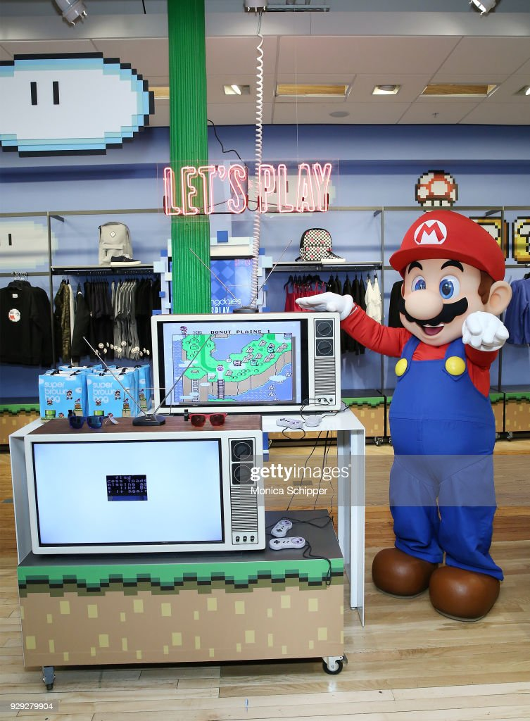 Mario attends the Bloomingdale's launch of an exclusive collection with Nintendo on March 8, 2018 in New York City.