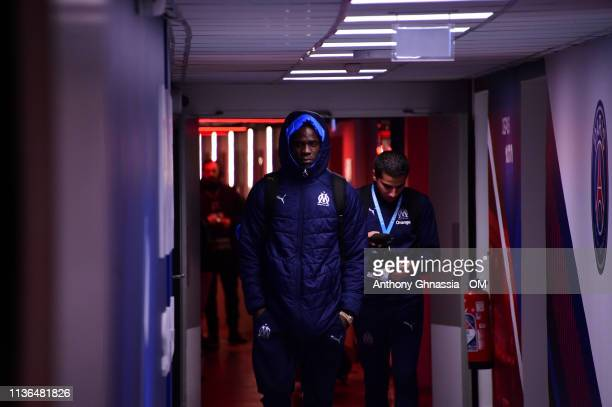 Mario Balotelli arrive at the Ligue 1 match between Paris Saint Germain and Olympique de Marseille at Parc des Princes on March 17 2019 in Paris...