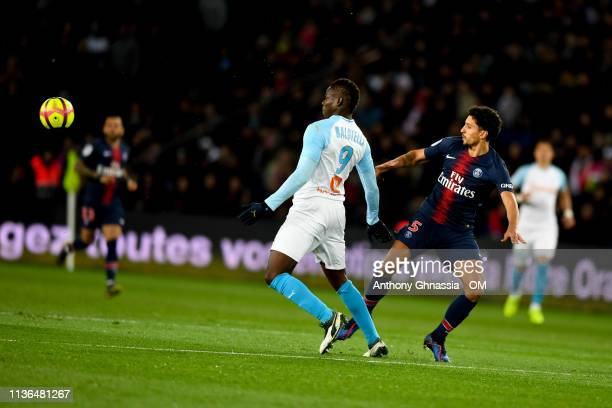 Mario Balotelli during the Ligue 1 match between Paris Saint Germain and Olympique de Marseille at Parc des Princes on March 17 2019 in Paris France