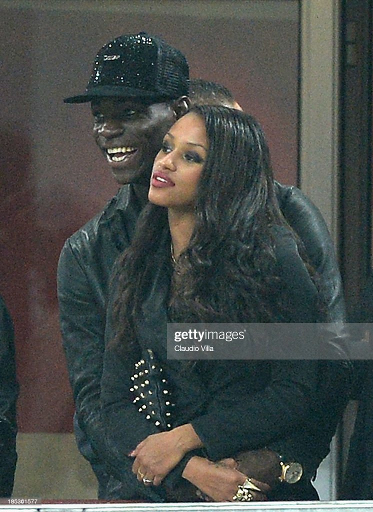 mario balotelli of ac milan and fanny neguesha attend the serie a photo d 39 actualit getty. Black Bedroom Furniture Sets. Home Design Ideas