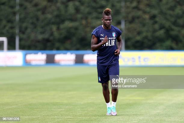 Mario Balotelli of Italy during a Italy training session on the eve of the international friendly football match between Italy and The Netherlands