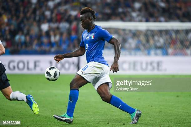 Mario Balotelli of Italy during the International Friendly match between France and Italy at Allianz Riviera Stadium on June 1 2018 in Nice France