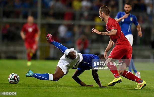 Mario Balotelli of Italy in action during the international friendly match between Italy and Luxembourg on June 4 2014 in Perugia Italy