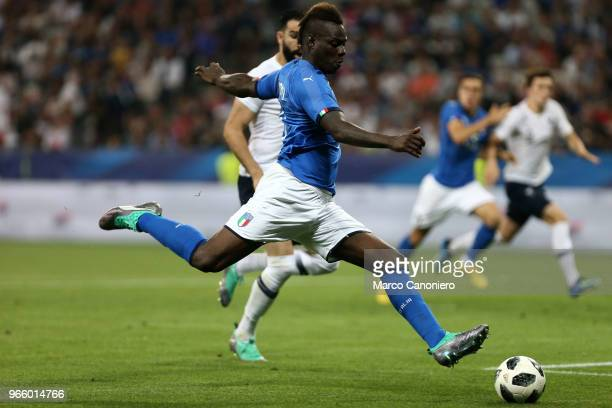 Mario Balotelli of Italy in action during the the International Friendly match between France and Italy France wins 31 over Italy