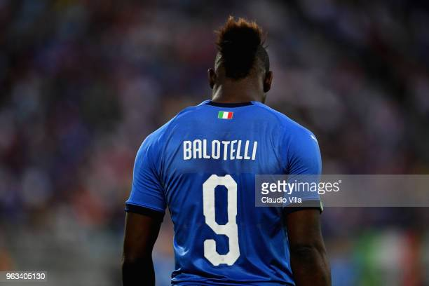 Mario Balotelli of Italy looks on during the International Friendly match between Saudi Arabia and Italy on May 28 2018 in St Gallen Switzerland