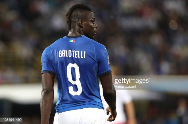 Mario Balotelli of Italy looks on during the UEFA Nations League A group three match between Italy and Poland at Stadio Renato Dall'Ara on September...