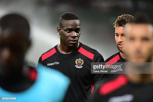 Mario Balotelli of Nice before the Europa League match between Nice and Schalke 04 at Allianz Riviera Stadium on September 15 2016 in Nice France