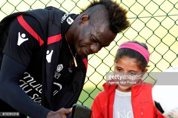 Mario Balotelli of Nice during Nice training session on November 17 2017 in Nice France