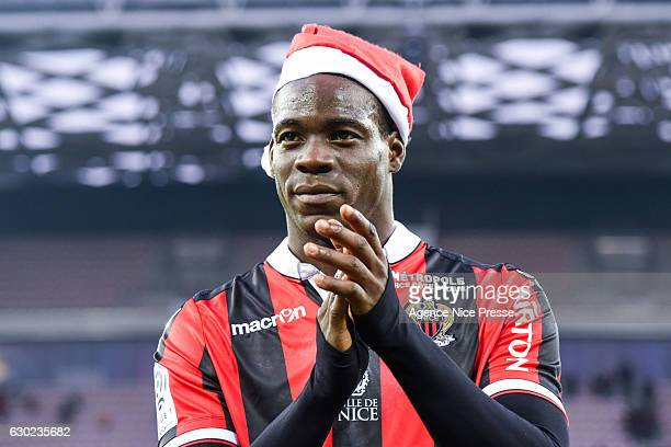 Mario Balotelli of Nice during the French Ligue 1 match between Nice and Dijon at Stade Municipal du Ray on December 18 2016 in Nice France
