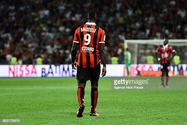 Mario Balotelli of Nice during the french Ligue 1 match between Ogc Nice and Olympique de Marseille at Allianz Riviera on September 11 2016 in Nice...