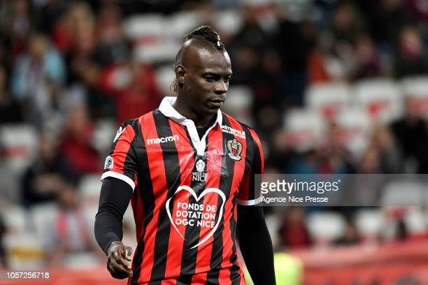 Mario Balotelli of Nice during the Ligue 1 match between Nice and Amiens at Allianz Riviera Stadium on November 3 2018 in Nice France