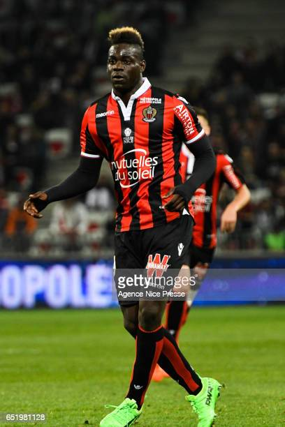 Mario Balotelli of Nice during the Ligue 1 match between OGC Nice and SM Caen at Allianz Riviera on March 10 2017 in Nice France