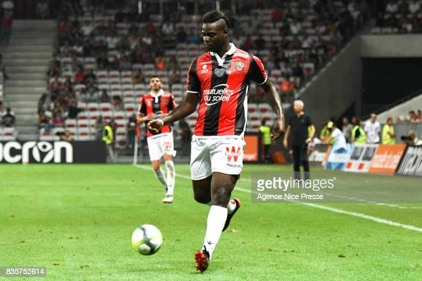 Mario Balotelli of Nice during the Ligue 1 match between OGC Nice and EA Guingamp at Allianz Riviera on August 19 2017 in Nice
