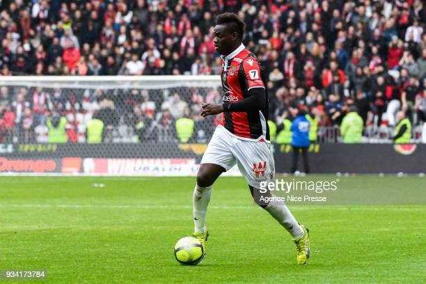 Mario Balotelli of Nice during the Ligue 1 match between OGC Nice and Paris Saint Germain at Allianz Riviera on March 18 2018 in Nice