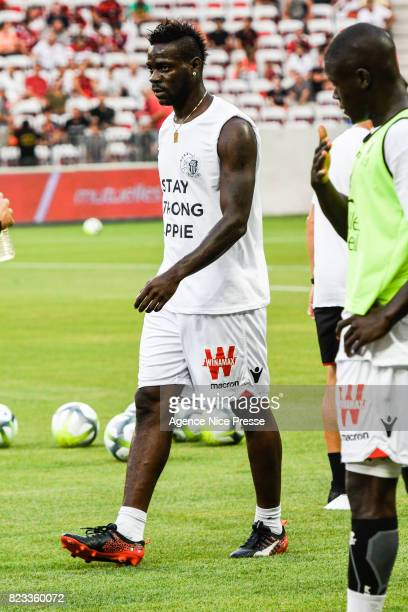 Mario Balotelli of Nice during the UEFA Champions League Qualifying match between Nice and Ajax Amsterdam at Allianz Riviera Stadium on July 26 2017...