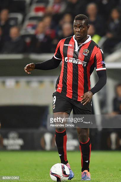 Mario Balotelli of Nice during the Uefa Europa League match between OGC Nice and Red Bull Salzburg at Allianz Riviera Stadium on November 3 2016 in...