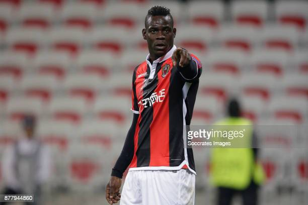 Mario Balotelli of Nice during the UEFA Europa League match between Nice v Zulte Waregem at the Allianz Riviera on November 23 2017 in Nice France