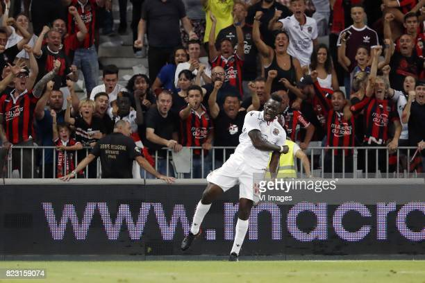 Mario Balotelli of OCG Nice during the UEFA Champions League third round qualifying first leg match between OGC Nice and Ajax Amsterdam on July 26...