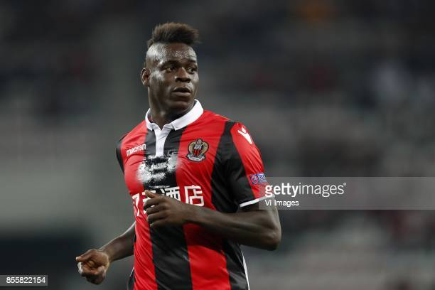 Mario Balotelli of OCG Nice during the UEFA Europa League group K match match between OGC Nice and Vitesse Arnhem on September 28 2017 at the Allianz...