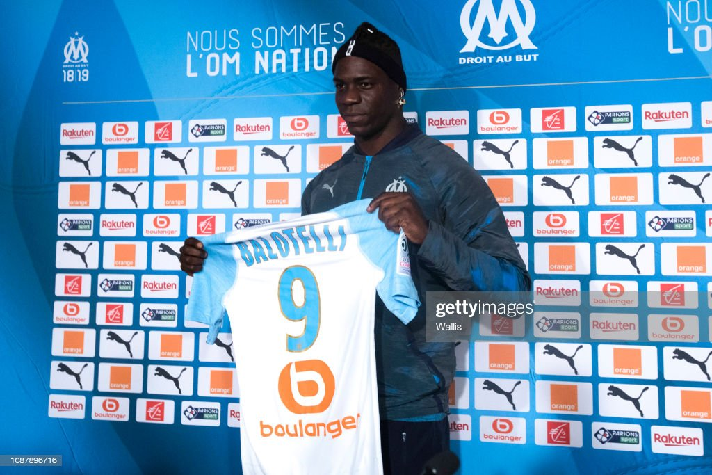 de11cf2d40852 Mario Balotelli presentation new players of Olympique Marseille : News Photo