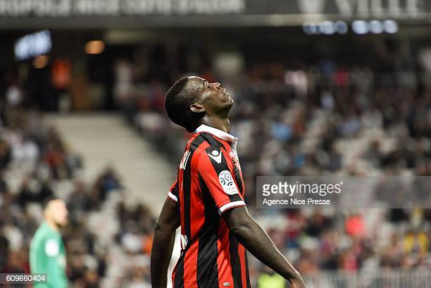 Mario Balotelli player of Nice during the French Ligue 1 game between OGC Nice and AS Monaco on September 21 2016 in Nice France