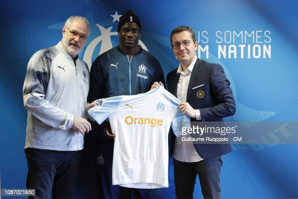 Mario Balotelli Signs for Olympique Marseille at Centre Robert LouisDreyfus on January 23 2019 in Marseille France