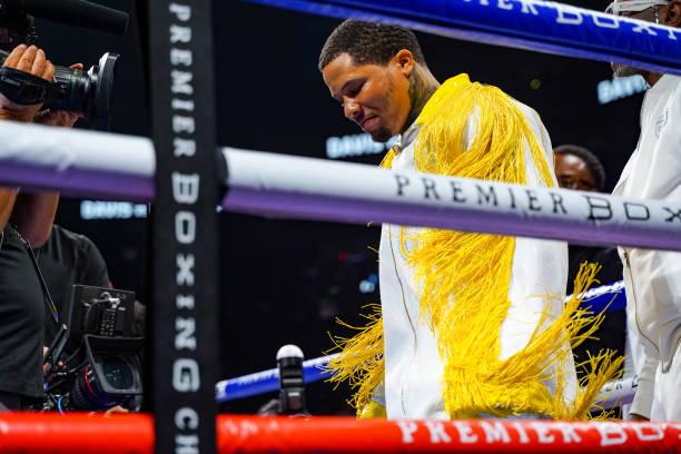 "Mario Barrios and Gervonta Davis attend Thomas J. Henry Sponsors Mario ""El Azteca"" Barrios In WBA Championship Boxing Match With Gervonta ""Tank""..."