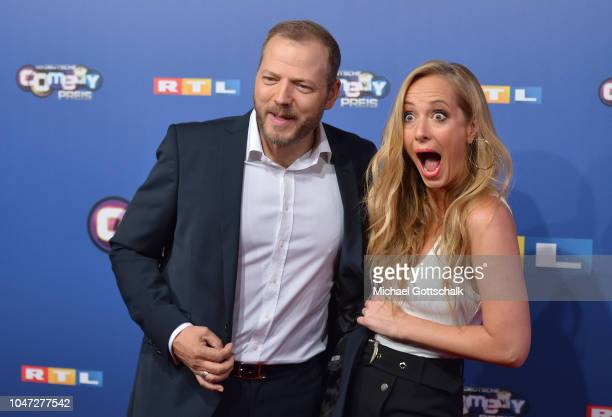 Mario Barth and Angela FingerErben attend the red carpet at the 22nd Annual German Comedy Awards at Studio in Koeln Muehlheim on October 7 2018 in...