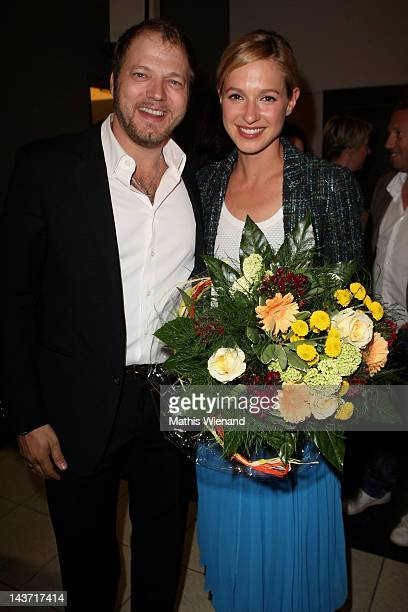 Mario Barth and Lisa Bitter attend the 'Das Hochzeitsvideo' World Premiere at Cinedome Cologne on May 2 2012 in Cologne Germany