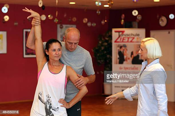 Mario Basler And Doris Bueld Train For Stepping Out Stock Fotos Und