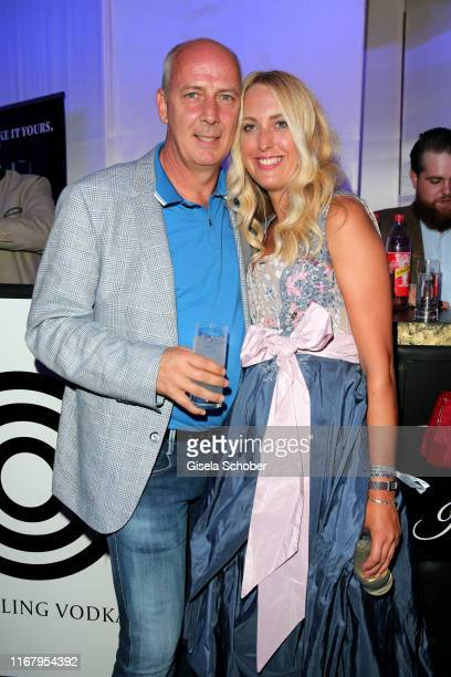 Mario Basler and Julia Finkeisen during the EAGLES Praesidenten Golf Cup Gala Evening on September 13, 2019 in Bad Griesbach, Germany.
