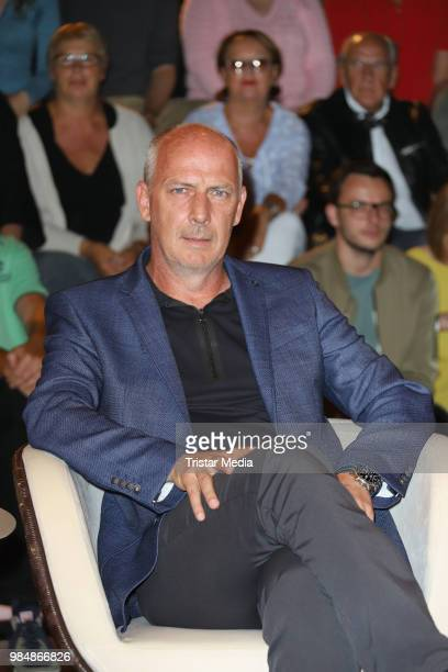 Mario Basler during the 'Markus Lanz' TV Show on June 26, 2018 in Hamburg, Germany.