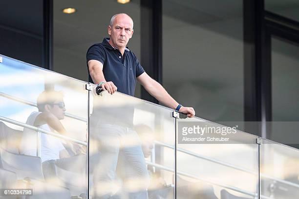Mario Basler is seen prior to the Bundesliga match between TSG 1899 Hoffenheim and FC Schalke 04 at Wirsol Rhein-Neckar-Arena on September 25, 2016...