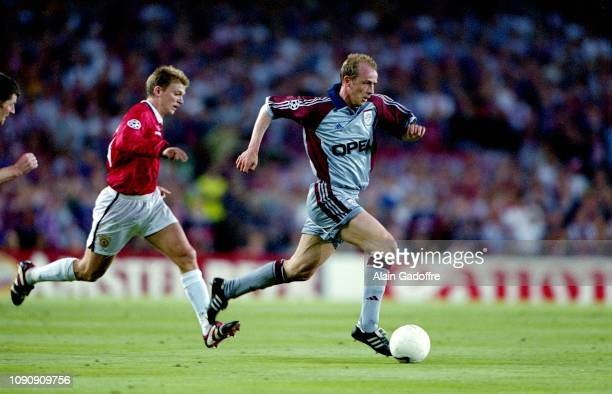 Mario Basler of Bayern Munich during the UEFA Champions league final match between Manchester United and Bayern Munich on May 26 1999 in Camp Nou...