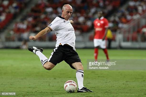 Mario Basler of germany in action during the Battle of Europe match between England Masters and Germany Masters at Singapore Stadium on November 12,...