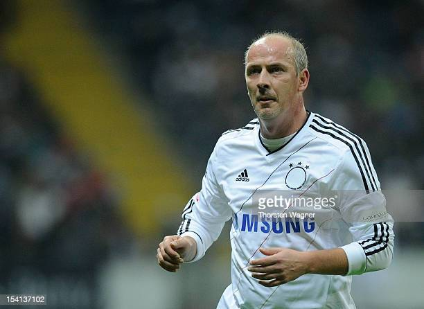 Mario Basler of Germany looks on during the century match between Germany and Italy at Commerzbank Arena on October 14, 2012 in Frankfurt am Main,...