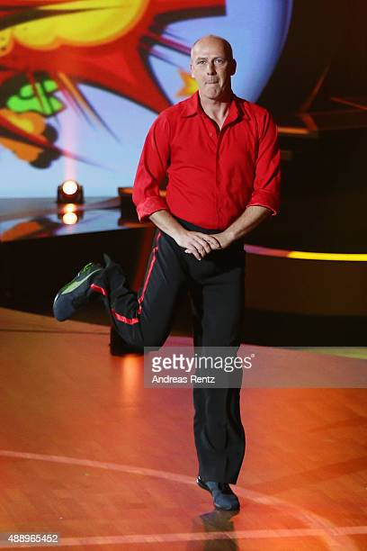Mario Basler performs during the second show of the television competition 'Stepping Out' on September 18, 2015 in Cologne, Germany.