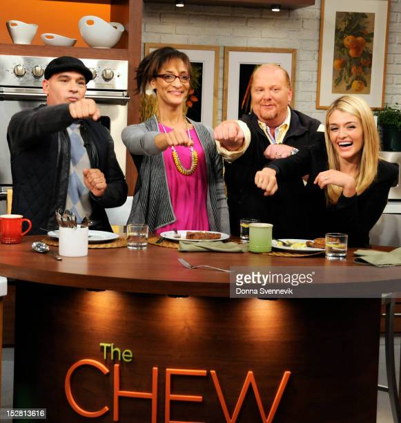 THE CHEW Mario Batali cooks with his sons Benno and Leo today September 26 2012 on The Chew The Chew airs MONDAY FRIDAY on the Walt Disney Television...