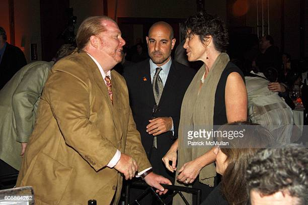 Mario Batali Stanley Tucci and Kate Tucci attend FOOD BANK For New York City CanDo Awards Dinner at Pier 60 on April 25 2006 in New York City