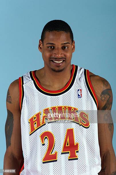 Mario Bennett of the Atlanta Hawks poses for a portrait during the Hawk's Media Day on October 1 2002 at Philips Arena in Atlanta Georgia NOTE TO...
