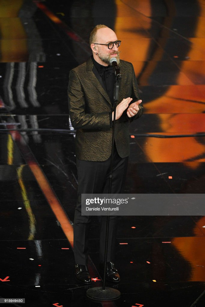Mario Biondi attends the third night of the 68. Sanremo Music Festival on February 8, 2018 in Sanremo, Italy.