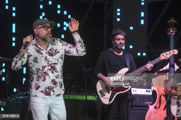 Mario Biondi Italian singer performing live in Naples city