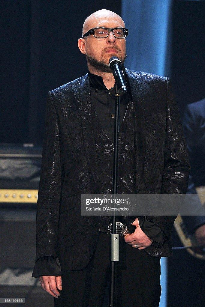 Mario Biondi performs at 'Che Tempo Che Fa' Italian TV Show on March 9, 2013 in Milan, Italy.