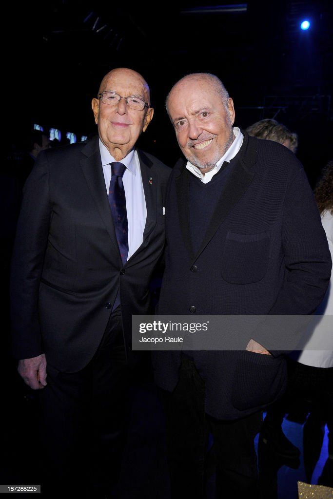 Mario Boselli and Elio Fiorucci attend the Mittelmoda Special Edition 2013 for Lectra on November 7, 2013 in Milan, Italy.