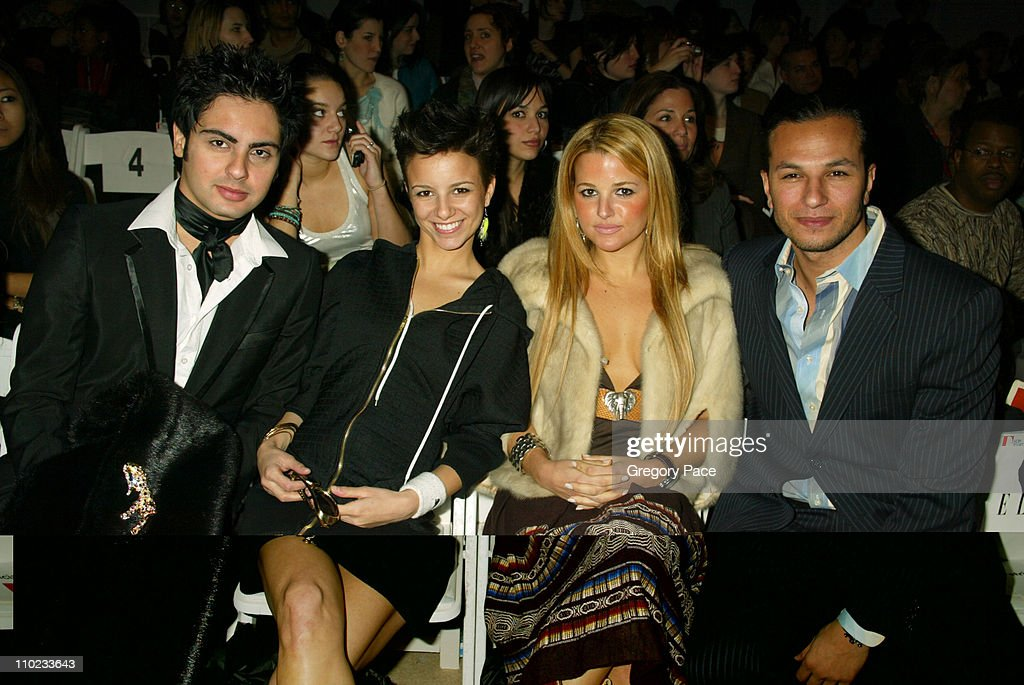 Olympus Fashion Week Fall 2005 - Project Runway - Backstage and Front Row : News Photo
