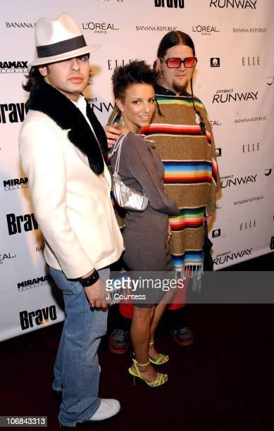 Mario Cadenas Nora Caliguri and Jay McCarroll are designer/contestants on Bravo's new reality series Project Runway