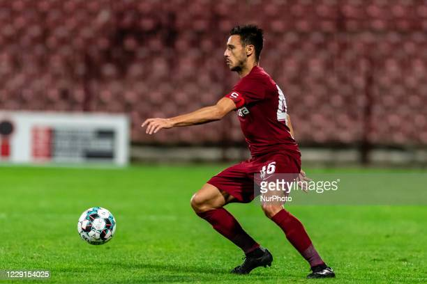 Mario Camora in action during the 7th game in the Romania League 1 between CFR Cluj and FC Botosani, at Dr.-Constantin-Radulescu-Stadium,...