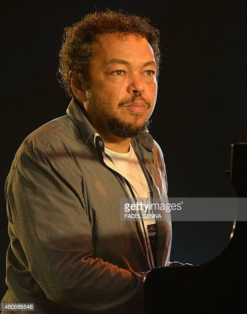 Mario Canonge performs in Essaouira at the Gnaoua World Music Festival on june 13 2014 The annual festival provides an opportunity for Gnaoua...