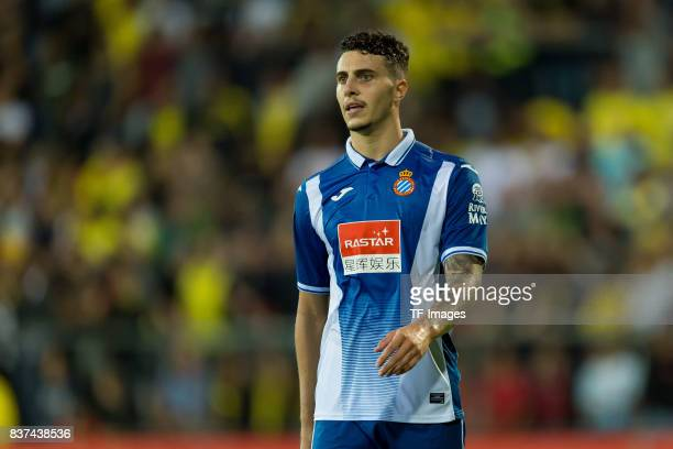 Mario Canseco Hermoso of Espanyol Barcelona looks on during a friendly match between Espanyol Barcelona and Borussia Dortmund as part of the training...