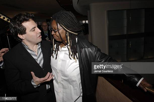 Mario Cantone and Whoopi Goldberg during 59th Annual Tony Awards 'Meet The Nominees' Press Reception at The View at The Marriot Marquis in New York...